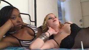 Amazing interracial lesbian porn video