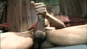 Solo Big-Black-Cock Jerking-Off