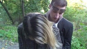 Outdoor sex with a lecherous blonde
