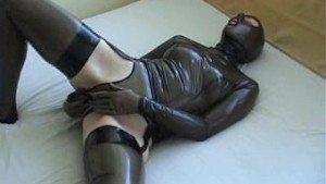young solo girl in latex