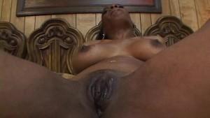 Hot black white lesbian porn with dildo-fucking