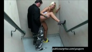 Blonde Hottie Fucked Doggystyle In Public