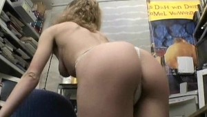 Mature blonde paid to put on a show