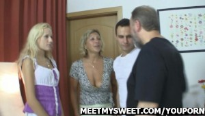 Her BF watches as she is fucking his family