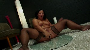 BBW with a huge black dildo