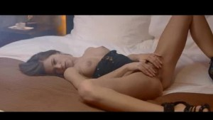 solo masturbation of luxury brunette