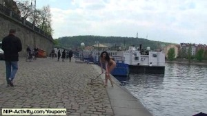 Spectacular Public Nudity With Crazy Nikol Vanilla