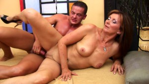 Mature Dorothy boned hard