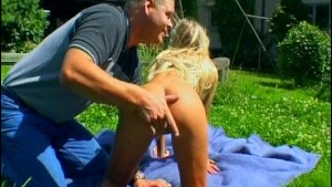 Blonde MILF fucked in the grass - Sascha Production