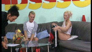 German amateur guy with a big dick does a blonde - DBM Video