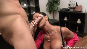 BIG TIT BRUNETTE PORNSTAR FUCKS BOSS'S BIG DICK D