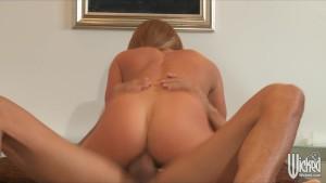 Sexy Blonde busty pornstar Nikki Delano fucks dick