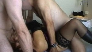 Wife gang fucked in the hotel room