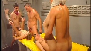 Orgy in the locker-room