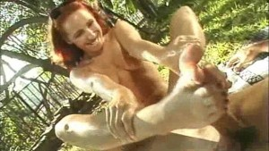 Handjob during Picnic