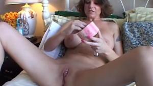 Big tits MILF shaves her pretty pussy