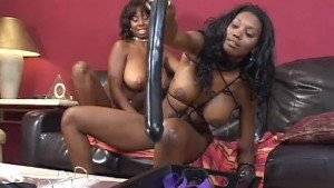 Horny Black Lesbians Playing With Sex Toys