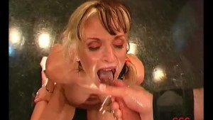 Gina fucked by two cocks
