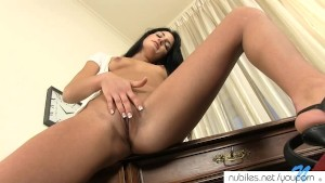Her first dildo fucking video
