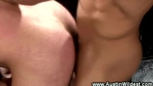 Sexy muscle guy gets his ass fucked by other muscle cock