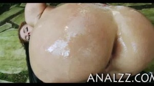 Big ass busty whore Krissy Lynn fucked in her backhole outdoors
