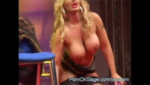hot dildo show on public stage