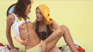teen lesbians testing new toy
