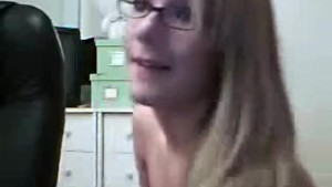 Hot stripping and teasing GF in glasses