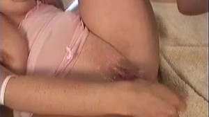 Busty Violet loves toying her pussy