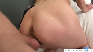 Amateur gaping ass pounding