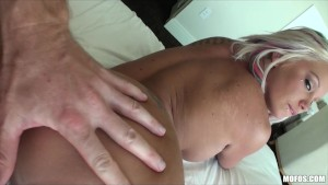 Stunning big-tit blonde is picked up & banged at the public park