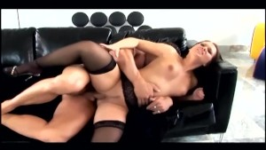 Anal sex in black stockings an