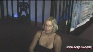 Sexy Suz Masturbating in Public Bar