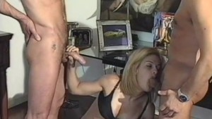 Shemale Babe Handles 3 Cocks - Jet Multimedia