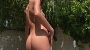 Hot babe fucking a big red dildo - FBA Production