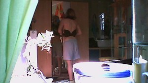 teenage blonde catched by hidden cam 02