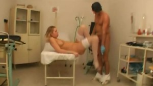 Blonde Hottie Fucked By A Masked Stud Inside The Clinic