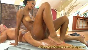 Isabella Chrystin makes man happy with her perfect Nuru massage