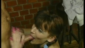 Pigtailed chick fucking two guys - Julia Reaves