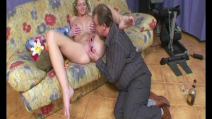 Old man parties with a younger girl - Julia Reaves