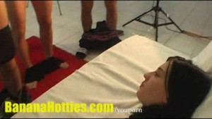 Nasty blow job by 18yo amateur teen at casting
