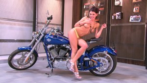 Teasing Hottie On A Bike - Julia Reaves