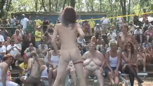 Wet Shirtless Dance Competition