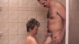 Older couple gets dirty in the shower - Dr. Moretwat s