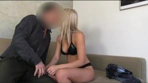FakeAgent Blonde sex kitten gets spunk shower