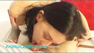 Footjob, handjob and lapdance by czech teen