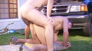 Muscled Gay Mechanic Fucking on the Job