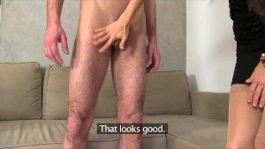 FemaleAgent. Czech gigolo tests his skills