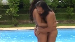 Tranny Fucked By The Pool