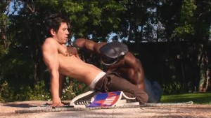 White guy dominated by huge black cock - Combat Zone